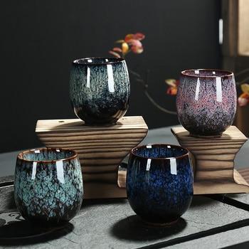 150ml Kiln Change Tea Cup Ceramic Chinese Kong Fu Tea Bowl Green Tea Puer Cup Home Office Drinkware Creative Gaiwan Dropshipping