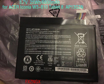3.7V 6800mAh 25Wh  Genuine New AP13G3N Battery For Acer Iconia W3-810 Tablet 8 Serie