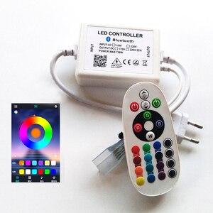 AC 110 В 220 В RGB светодиодный ИК-контроллер с ИК 24Key пульт дистанционного управления мобильный телефон Bluetooth контроль для светодиодный осветите...