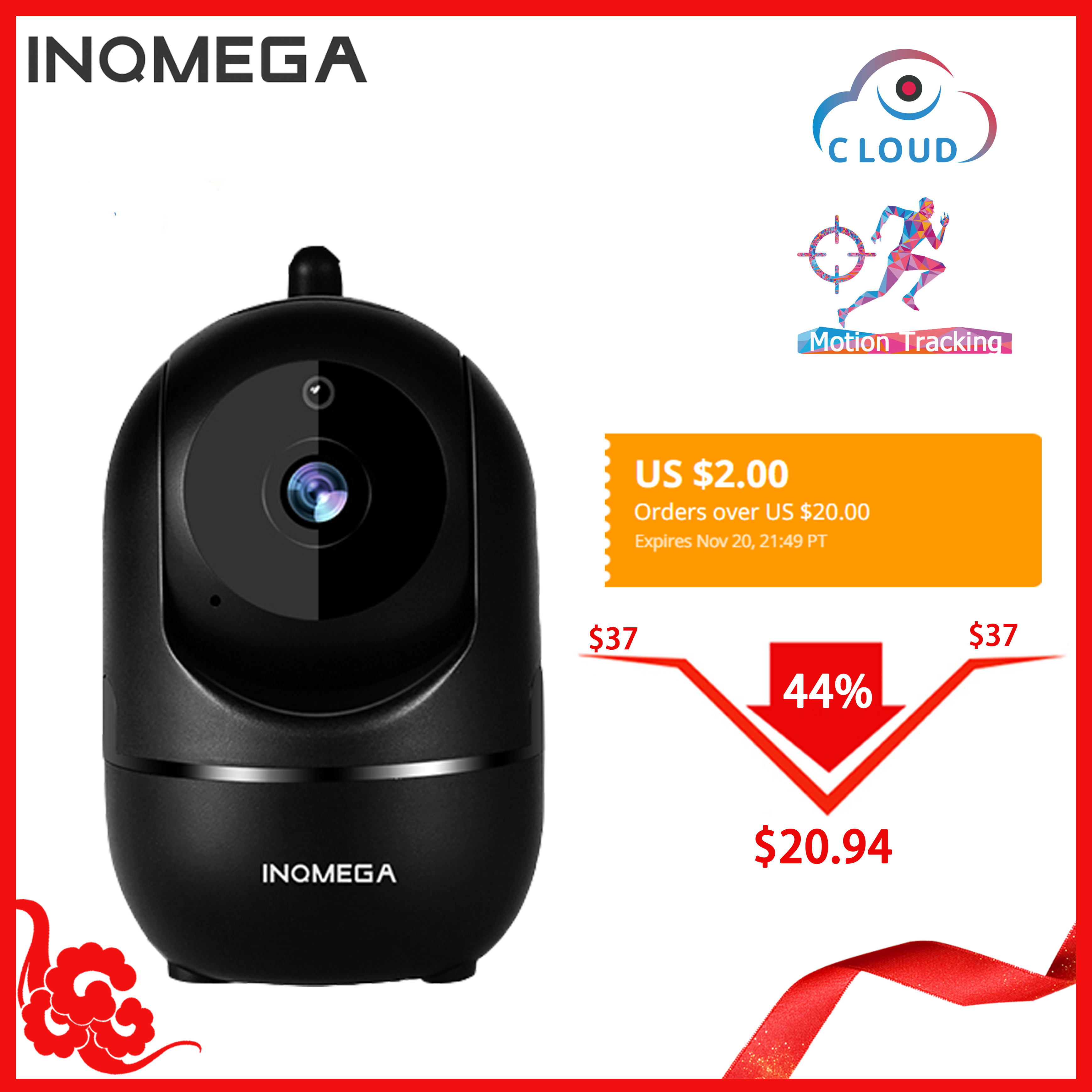 INQMEGA HD 1080P Cloud Wireless IP Camera Intelligent Auto Tracking Of Human Home Security Surveillance CCTV Innrech Market.com