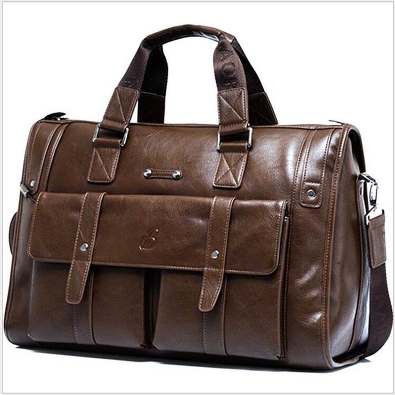 Luxury Brand Genuine Leather Men's Business Briefcase Fashion Retro Men's Computer Bag Shoulder Bag 2019 Autumn New 2.5