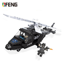 SWAT Military  Helicopter Building Blocks Army Special Forces Team Soldier model Bricks Figures Educational Gifts Toys Boys Set