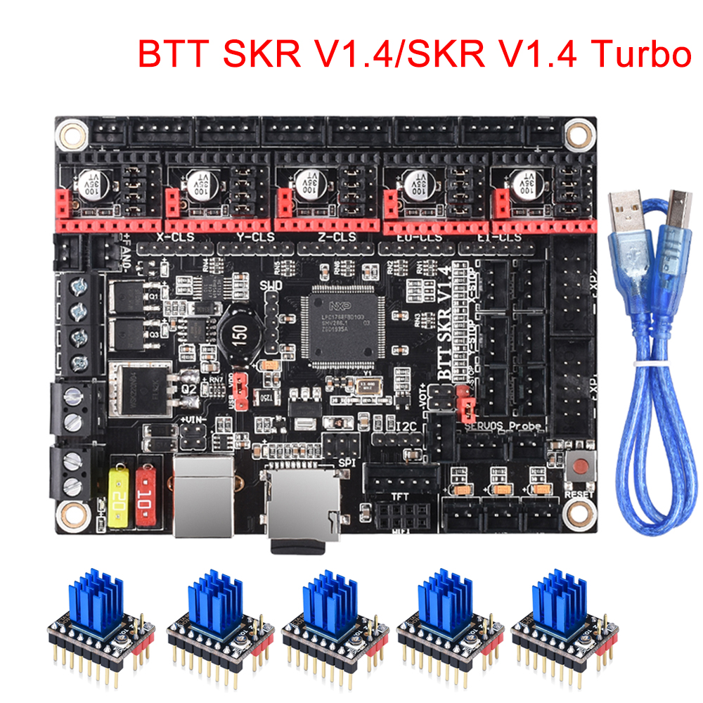 BIGTREETECH SKR V1.4 Control Board/BTT SKR V1.4 Turbo 32 Bit 3D Printer Parts SKR V1.3 TMC2208 TMC2209 For Ender 3/5 Mini E3