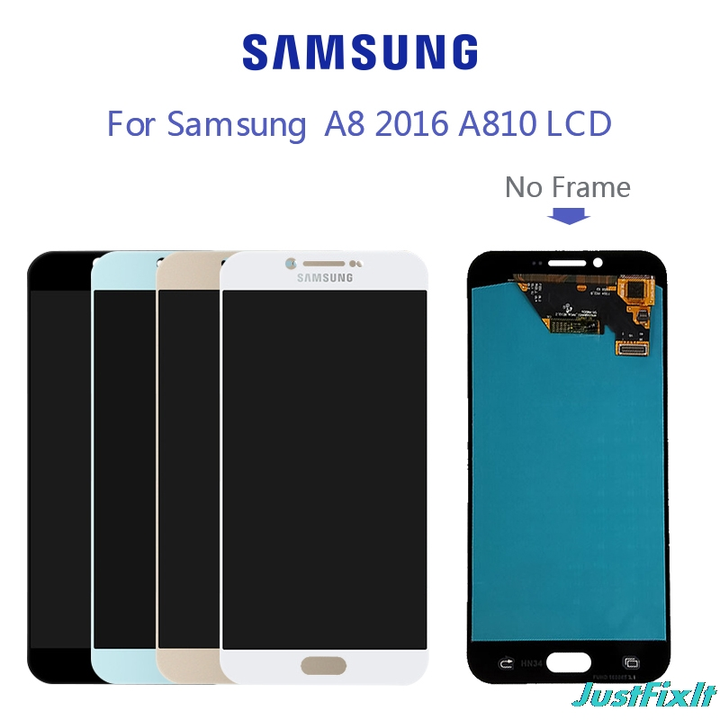 For <font><b>Samsung</b></font> A8 2016 <font><b>A810</b></font> <font><b>LCD</b></font> For <font><b>A810</b></font> A8100 Disaplay <font><b>LCD</b></font> Screen Touch Digitizer Assembly Free Shipping 100% tested SUPER AMOLED image