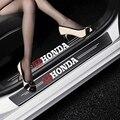 4 шт., защитные наклейки на пороги автомобиля Honda Civic City Accord Odyssey Spirior CRV