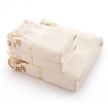 Microfiber Fabric Embroidered 3 pcs Towel Set for Adults Home 1pc*70*140cm Bath Towel 2pcs*34*76cm Face Towels cheap SUGAN LIFE CN(Origin) Plain Woven ROLL 360g 95g*2 C-51 Compressed Quick-Dry 5s-10s Floral face towel set Universal