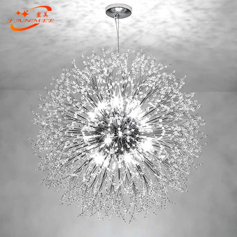 الحديثة LED كريستال الثريا قلادة ضوء مصباح معلق الهندباء كريستال أضواء الثريا للزينة غرفة الطعام المعيشة