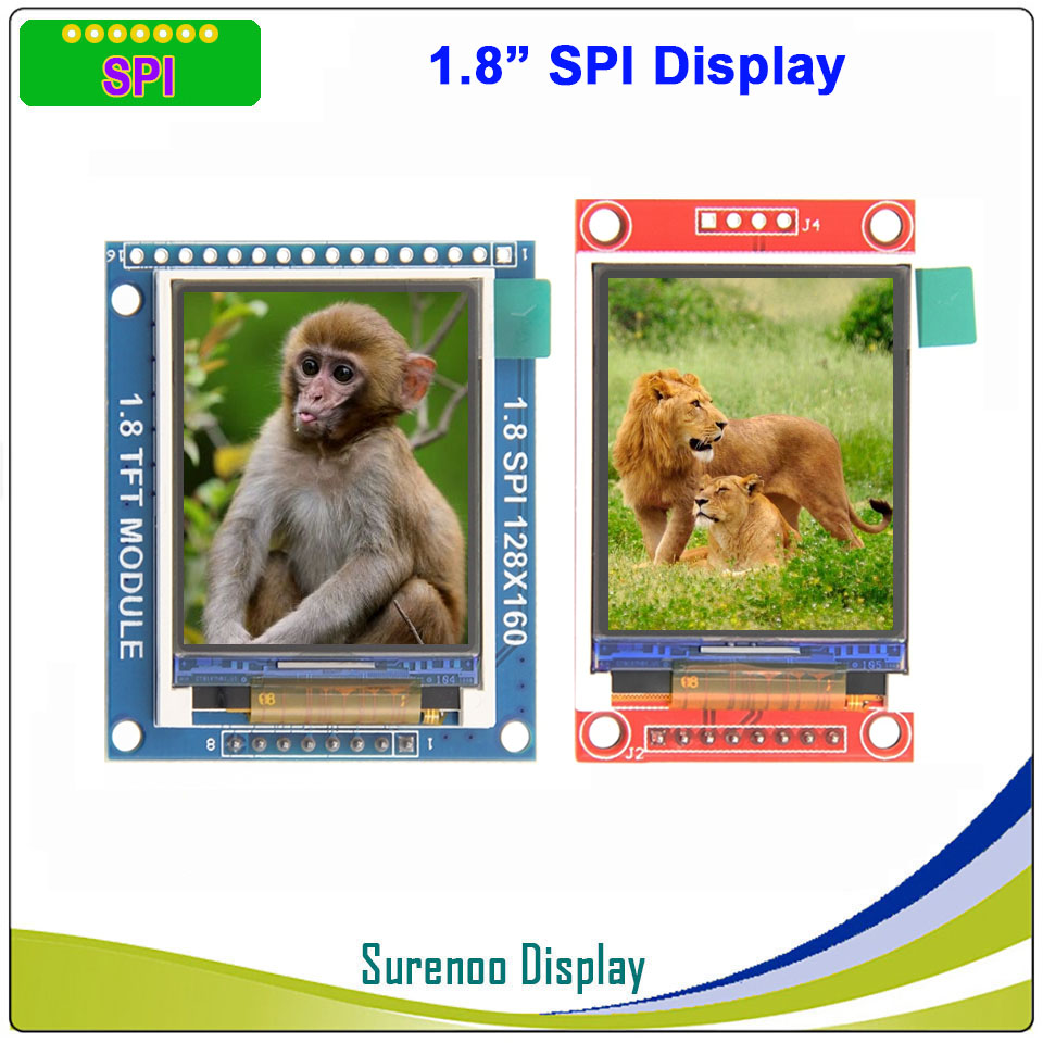 1.8 inch 128*160 SPI Serial TFT LCD Module Display Screen Driver IC ST7735S for MCU Without Touch Panel image