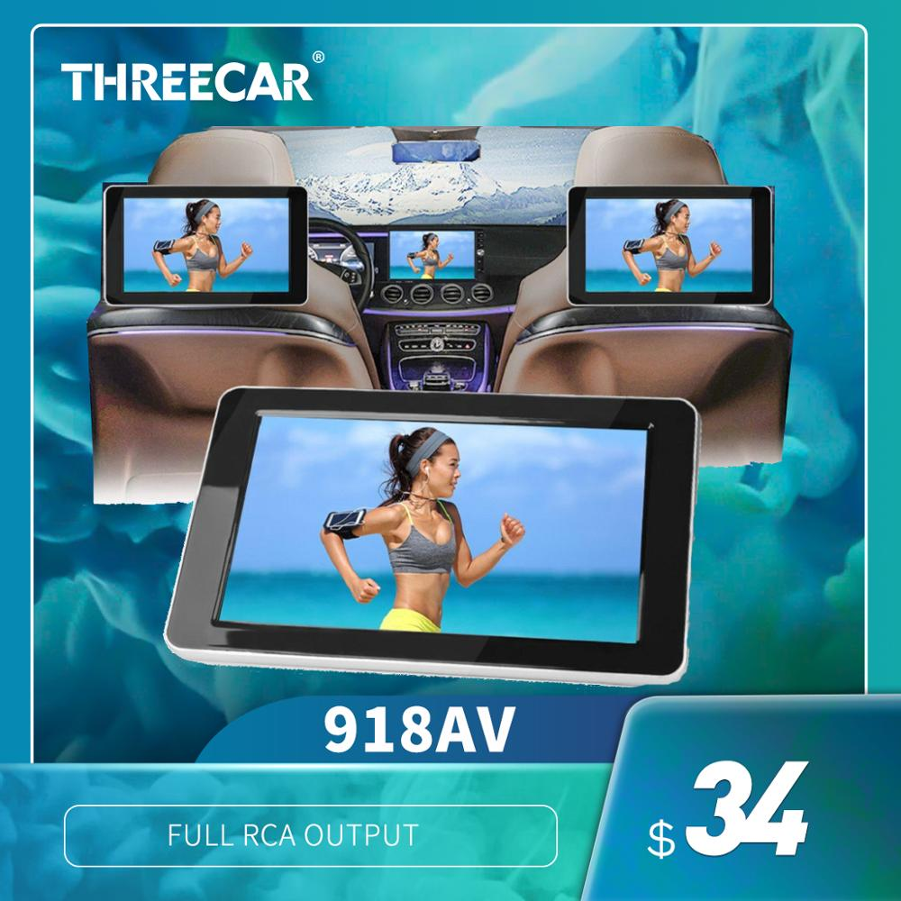 2019 New Car Rear Seat Entertainment 9 Inch TFT Color LCD Headrest DVD Monitors Input Radio AV Monitor For Car Audio DVD Player