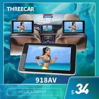 2019 nuevo coche de entretenimiento para asiento trasero 9 pulgadas TFT LCD a Color de reposacabezas Monitor de DVD de entrada Radio AV Monitor de audio para coche reproductor de DVD|Monitores de coche| |  -