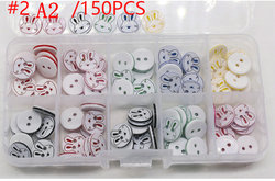 150pcs one Box DIY baby hand-made clothes buttons, Colorful mixed-up Baby Button shirt buttons  Clothing Sewing Accessories