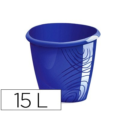 BIN PLASTICO CEP COLOR BLUE CAPACITY 15 LITER