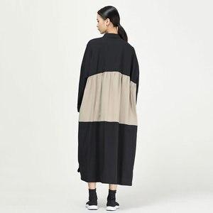 Image 4 - XITAO קפלים להיט צבע Midi שמלת נשים מקורי עצמאי עיצוב יחיד שד אלגנטי טלאי אלת מאוורר שמלת WQR1642