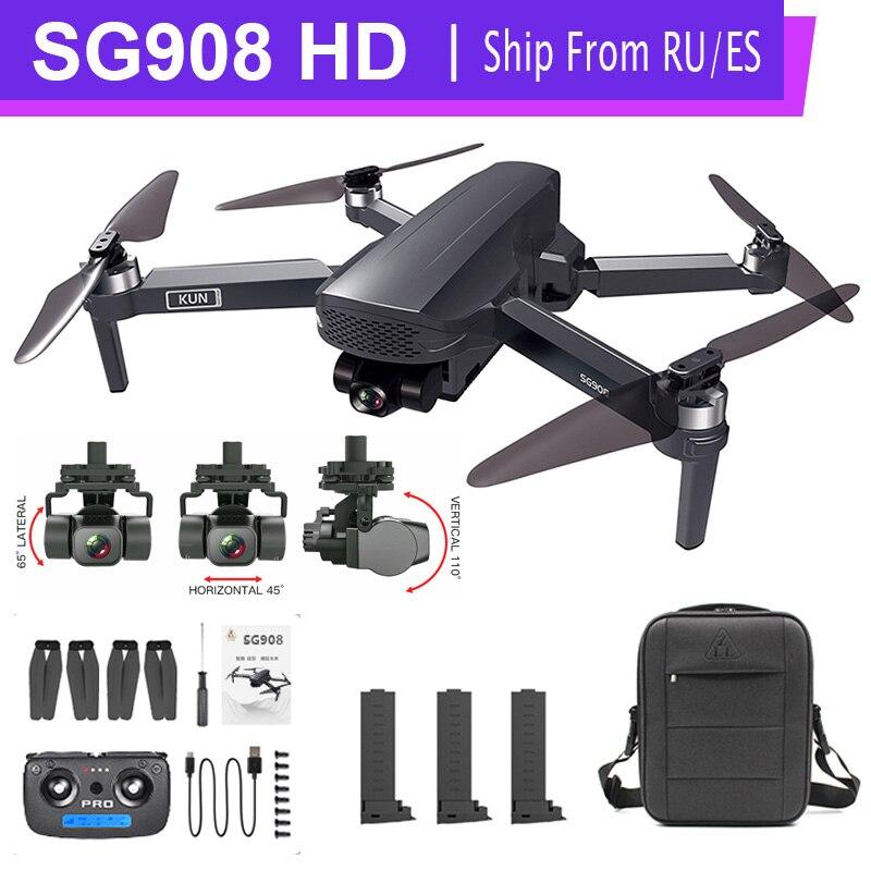 Новейшая модель; SG908 4K GPS, беспилотные летательные аппараты с Камера 3-осевому гидростабилизатору Квадрокоптер с дистанционным управлением ...