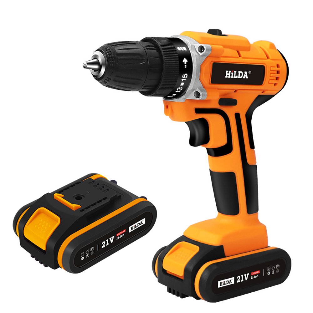 21V 340W Cordless Electric Screwdriver Mini Hand Drill Power Driver Drill for Drilling Tightening Screw Professional Tools