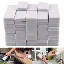 100 pces 100*60*20mm branco melamina esponja mágica esponja borracha para cozinha escritório banheiro limpo acessório/prato limpeza nano
