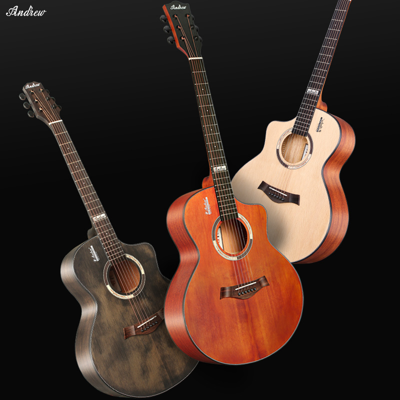 Veneer guitar teaching playing guitar 41-inch professional performce guitar bright folk acoustic guitar