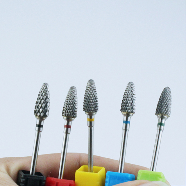 Ceramic Milling Cutter Manicure Nail Drill Bits Electric Nail Files Pink Blue Grinding Bits Mills Cutter Burr Accessories 3