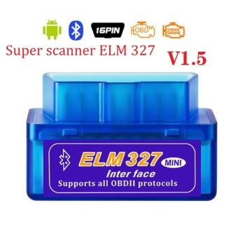 Super elm327 car code reader V1.5 Car tool Bluetooth Function OBD2 Car scanner ELM 327 Bluetooth 4.0 For Android/Symbian phone image