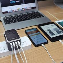 Universal Multi-Plug Adapter Charger 4usb Conversion Plug Abroad Conversion Socket Converter AS99