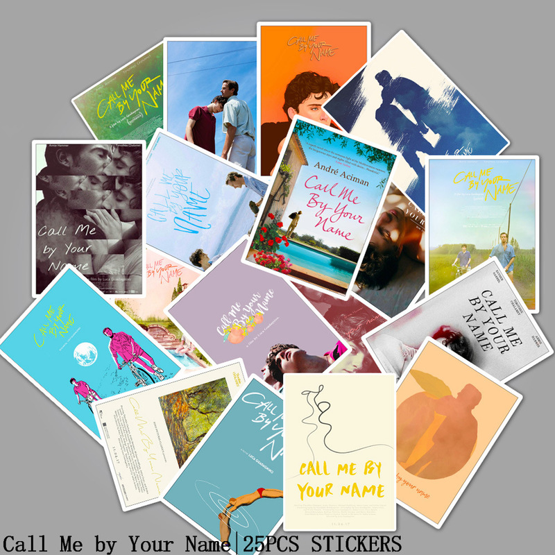 25pcs Call Me By Your Name Classic Movie Stickers Luggage Laptop Skateboard Water Bottles Phone Room Decoration Vinyl Sticker