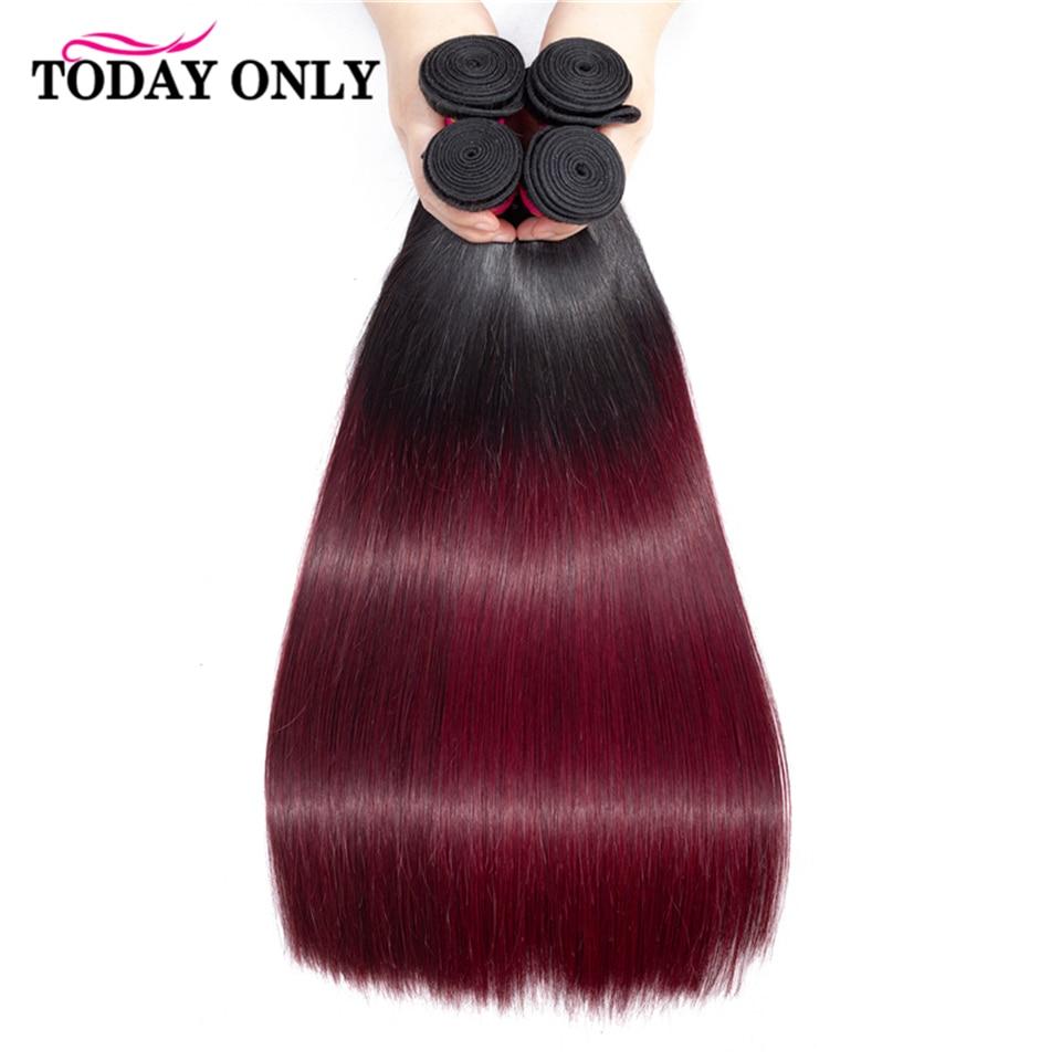 TODAYONLY Brazilian Straight Hair Bundles With Closure Blonde Brazilian Hair Weave Bundles Remy Human Hair Bundles With Closure
