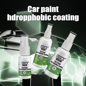 HGKJ Super Hydrophobic Paint Coating Kit Anti-Scratch Exterior Care Paint Sealant Car Wash Accessories 30ml hardness 10h super hydrophobic car glass coating car liquid coat paint care durability anti corrosion coating set