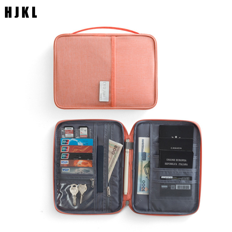 Travel Passport Wallets Credit Card Cover Large Capacity Waterproof Document Organizer Travel Accessories Passport Holder Color : Green
