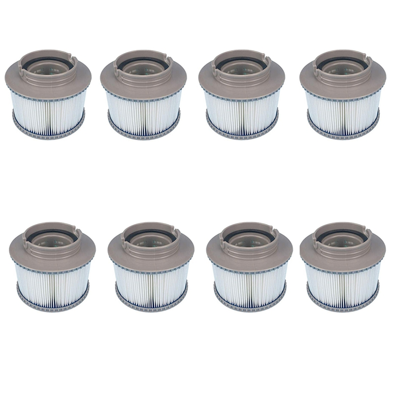 Lovely 8pcs/lot For Mspa Replacement Filter Pack X 8 Inflatable Tub Keep Clean For Mspa Filter Water Filter Cartridge