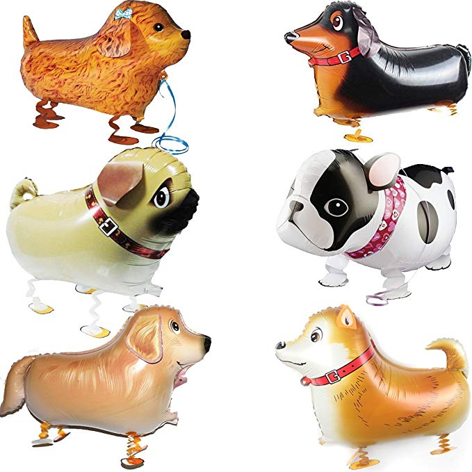 SET//LOT OF 20 WALKING ANIMAL BALLOON PETS AIR WALKERS FOIL HELIUM BIRTHDAY PARTY
