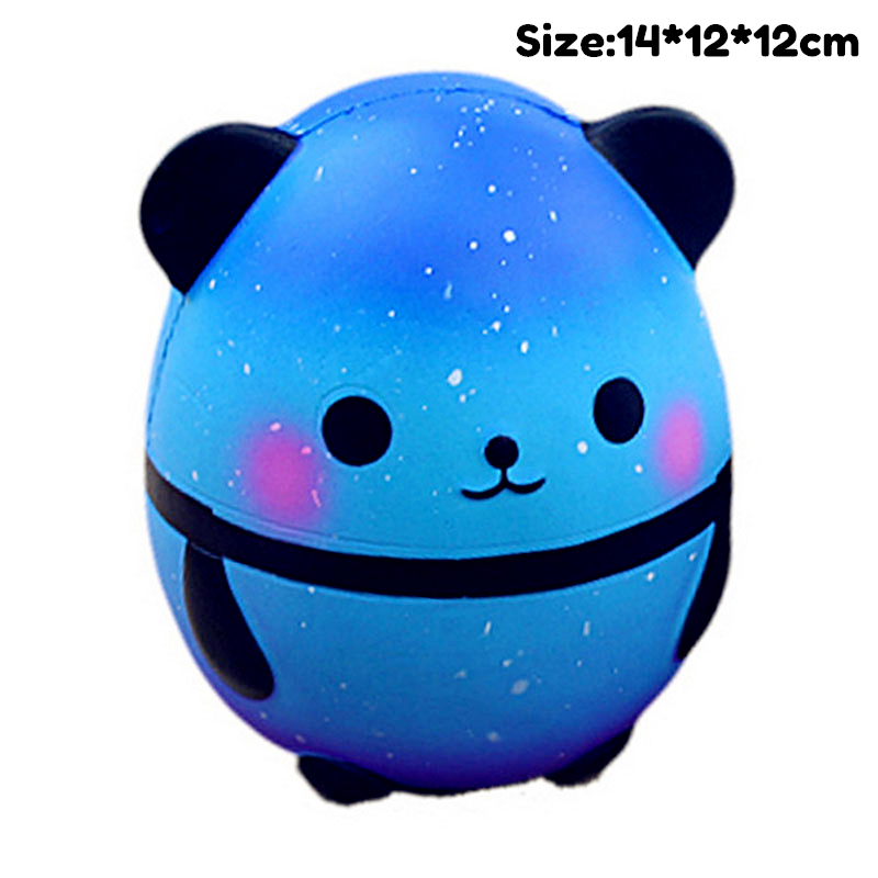 Kawaii Panda Egg Slow Rising Simulation Unicorn Shark Cat Animal Squishy Toy Anti Stress Reliever Soft Squeeze Xmas Gift Toys