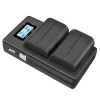 Lp E6 carregador de bateria lcd carregador duplo para canon eos 5ds r 5d mark ii 5d mark iii 6d 7d 80d eos 5ds r câmera Acessórios para baterias     -