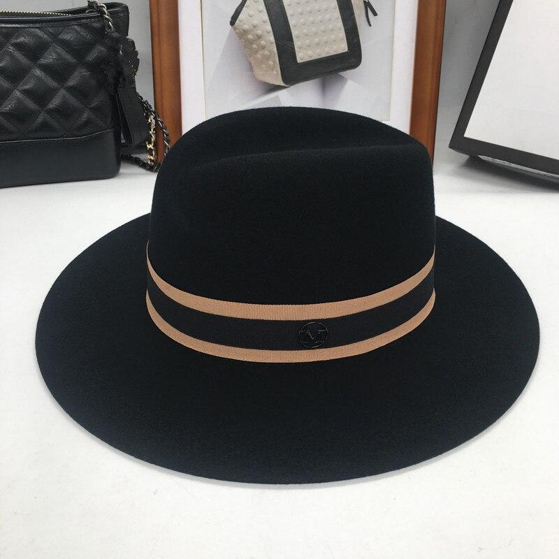 Image 2 - Новая английская флисовая шляпа в форме Ретро М шляпа и ветер и волна. Универсальная шапка-in Мужские фетровых from Аксессуары для одежды on AliExpress - 11.11_Double 11_Singles' Day
