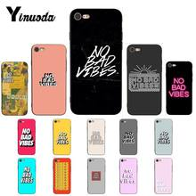 Yinuoda Funny Letter No Bad Vibes Colorful Cute Phone Case for iPhone 11 pro XS MAX 8 7 6 6S Plus X 5 5S SE XR case(China)