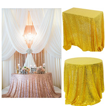 Sequin Tablecloth Glitter Wedding-Decoration Banquet Party Round/rectangle Home for Tea