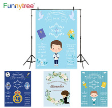 Funnytree photography backdrops football game first communion child blue badge banner photocall studio funds camera photographic