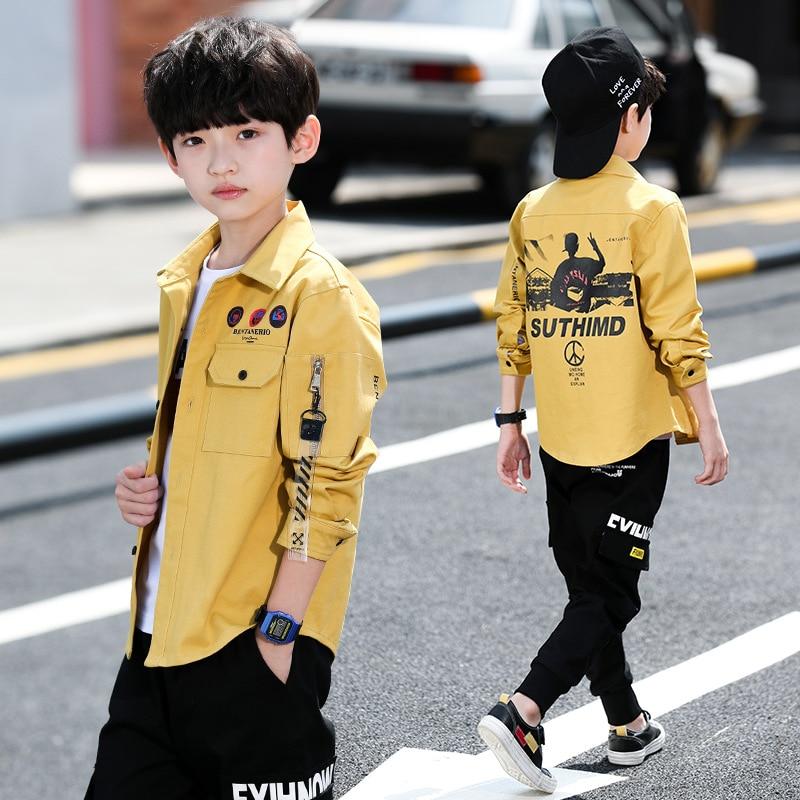 Boys Fashion Korean-Style Shirts