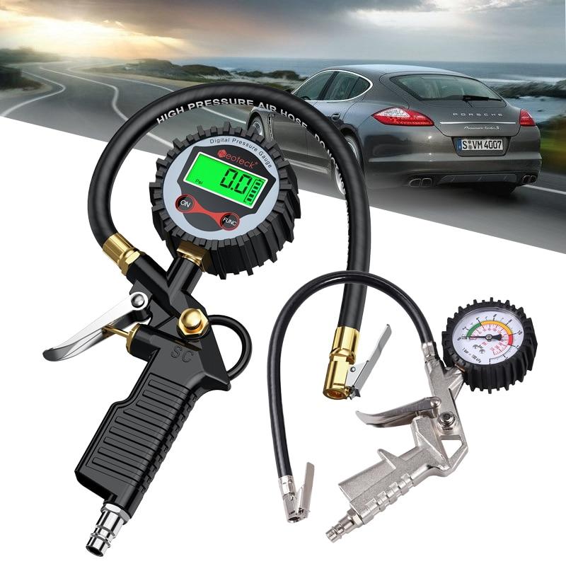 Neoteck Digital Tire Pressure Gauge Tire Inflator Gauge 200 PSI Car Tire Air Pressure Gauge Vehicle Inflation Tire Air Inflator