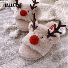 Women Shoes Flip-Flops Rubber Christmas-Deer Bedroom Japanese Winter Cute Sweet Seasons