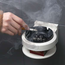 Lighters & Smoking Accessories Ashtrays, Stainless steel wall-mounted ashtray, non-perforated toilet wall-mounted ashtray 4477 extrusion switch stainless steel ashtray silver