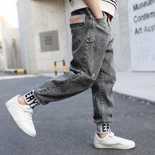 Ienens/повседневные джинсовые брюки для мальчиков осенние штаны