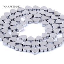 цены на Heart Shape Hematite Silvers Stone Loose Beads For Jewelry Making 8mm Spacer Beads Fit Diy Bracelet Necklace Accessory 15'' в интернет-магазинах