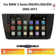 Chegada de novo! 2g + 32g android 10 reprodutor de rádio do carro multimídia para bmw série e90 e91 e92 e93 sistema espelho ligação am/fm obd2 dab + swc