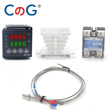 CG R8-100 Digital Temperature Controller Thermostat K Type SSR output 40DA SSR Relay K/J Screw M6 1m Thermocouple Probe RKC