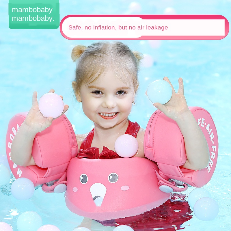 Non-inflatable Arm Ring Baby Swimming Ring Floating Float Lying Swimming Pool Toys Bathtub Swimming Accessories A Plastic Case Is Compartmentalized For Safe Storage