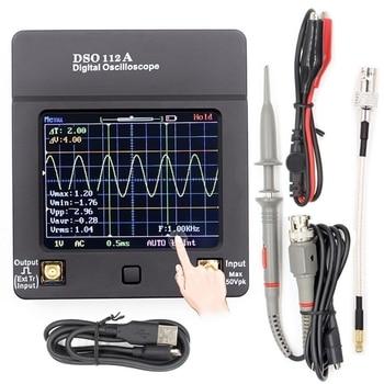 цена на Mult-Style New DSO112A TFT Mini Digital Oscilloscope Touch Contact Screen Portable USB Oscilloscope Interface 2MHz 5Msps
