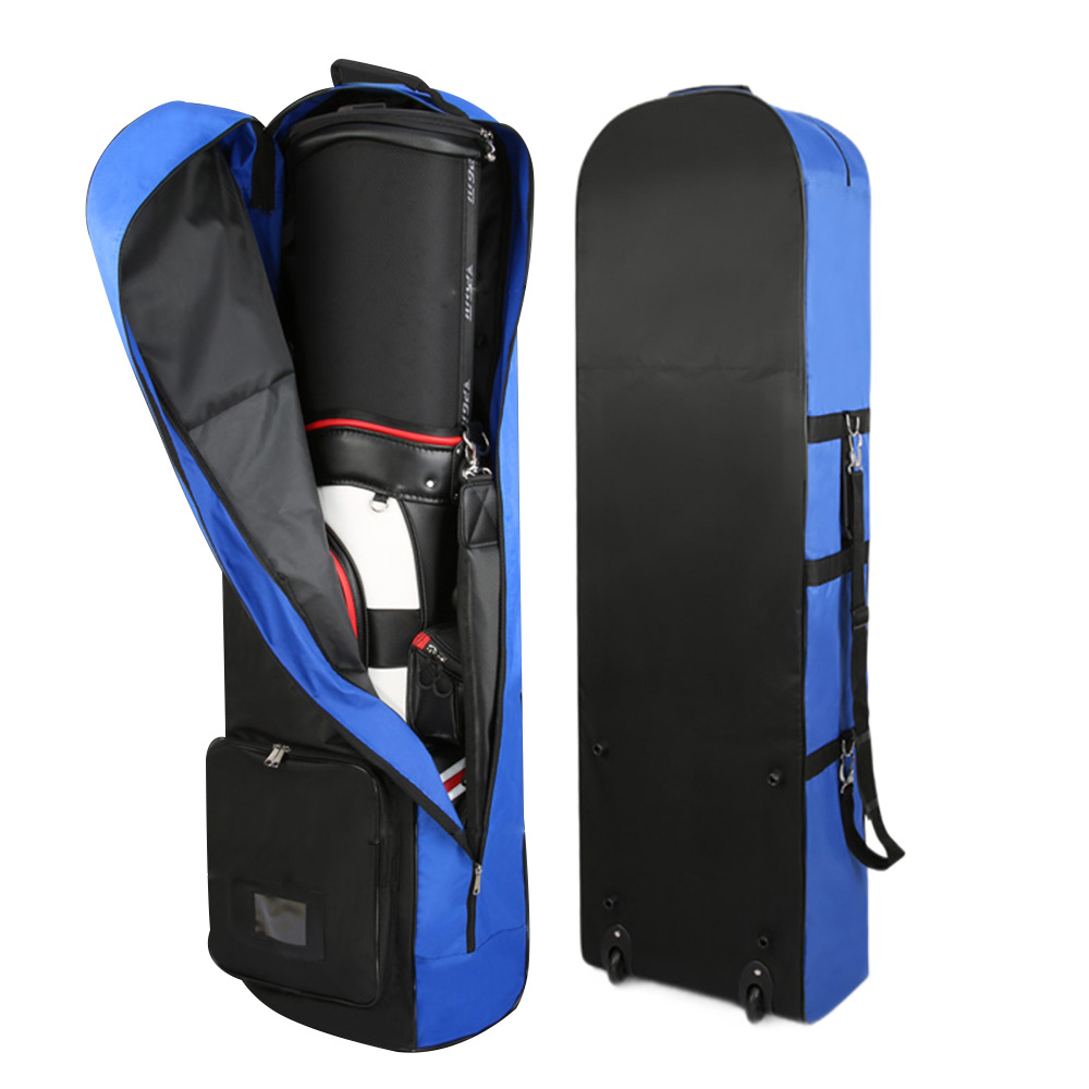 Golf Air Bag PGM Nylon With Pulley Collapsible Golf Bag Double Zipper Lightweight Ball Bag