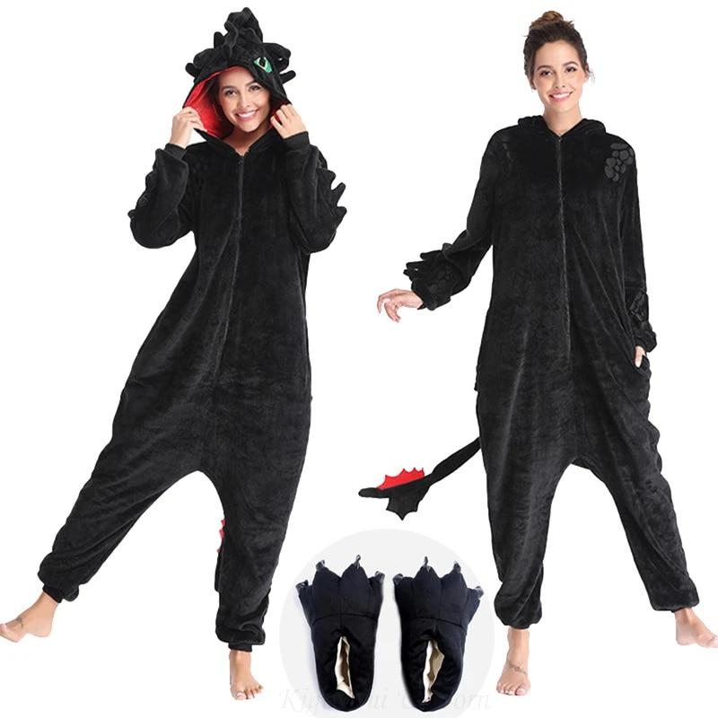 Пижама-комбинезон унисекс фланелевая с единорогом, без зубцов