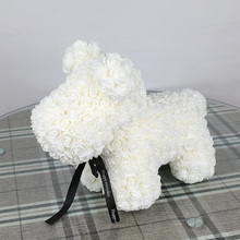 40cm 1pcs Cheap Rose Dog PE Teddy Bear Artificial Foam For Birthday New Year Gifts For Women Valentines Gift