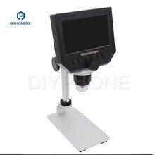600x 4.3'' Digital Electronic Microscope with Aluminum Alloy Base 8 LED Endoscop